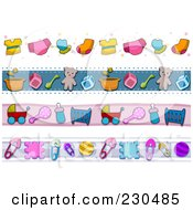 Royalty Free RF Clipart Illustration Of A Digital Collage Of Baby Border Designs by BNP Design Studio