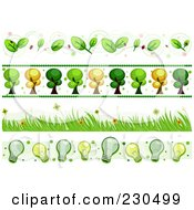 Royalty Free RF Clipart Illustration Of A Digital Collage Of Ecology Border Designs by BNP Design Studio