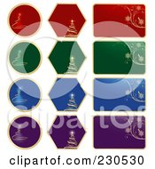 Royalty Free RF Clipart Illustration Of A Digital Collage Of Colorful Christmas Labels
