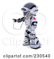 Royalty Free RF Clipart Illustration Of A 3d Robot Character Doctor