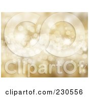Royalty Free RF Clipart Illustration Of A Gold Sparkle Christmas Background