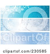 Royalty Free RF Clipart Illustration Of A Digital Collage Of Three Blue Winter Banner Designs