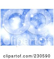 Royalty Free RF Clipart Illustration Of A Blue Sparkle Christmas Background