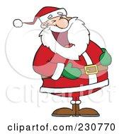 Santa Laughing 1 by Hit Toon