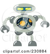 Royalty Free RF Clipart Illustration Of A Futuristic Robot 6 by yayayoyo
