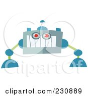 Royalty Free RF Clipart Illustration Of A Futuristic Robot 9 by yayayoyo