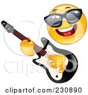 Yellow Emoticon Rock Star