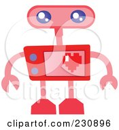 Royalty Free RF Clipart Illustration Of A Futuristic Robot 8 by yayayoyo
