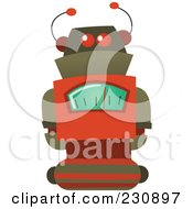 Royalty Free RF Clipart Illustration Of A Futuristic Robot 5 by yayayoyo