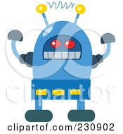Royalty Free RF Clipart Illustration Of A Futuristic Robot 1 by yayayoyo