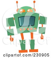 Royalty Free RF Clipart Illustration Of A Futuristic Robot 3 by yayayoyo
