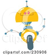 Royalty Free RF Clipart Illustration Of A Futuristic Robot 7 by yayayoyo