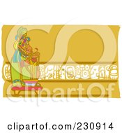 Royalty Free RF Clipart Illustration Of A Mayan King With Rope by xunantunich