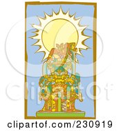 Royalty Free RF Clipart Illustration Of A Mayan King Reclined 2 by xunantunich