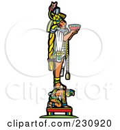 Royalty Free RF Clipart Illustration Of A Mayan King Holding An Offering 1 by xunantunich