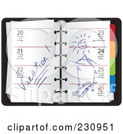 Royalty Free RF Clipart Illustration Of A Winter Organizer With Plans by Eugene