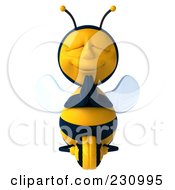 Royalty Free RF Clipart Illustration Of A 3d Bee Character Meditating 1
