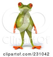 Fat 3d Springer Frog With Cellulite
