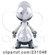 Royalty Free RF Clipart Illustration Of A 3d Robie Robot Character Facing Front by Julos