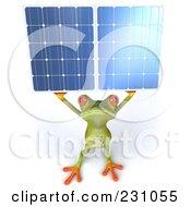 3d Springer Frog Holding A Solar Panel - 2