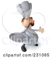 Royalty Free RF Clipart Illustration Of A 3d Chef Man Holding A Thumb Up And A Plate