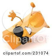 Royalty Free RF Clipart Illustration Of A 3d Frite French Fry Character Wearing Shades And Doing A Hand Stand by Julos