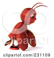 Royalty Free RF Clipart Illustration Of A 3d Lobster Facing Right And Pouting