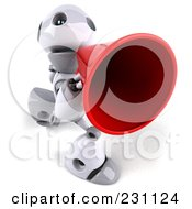 Royalty Free RF Clipart Illustration Of A 3d Robot Boy Character Announcing