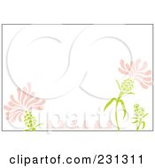 Pink And Green Horizontal Floral Border Background