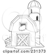 Red Barn Coloring Page http://www.clipartof.com/gallery/clipart/granary.html