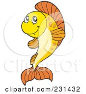 Royalty Free RF Clipart Illustration Of A Cute Orange Fish
