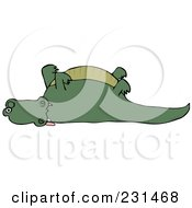 Royalty Free RF Clipart Illustration Of A Dead Alligator With His Legs Up by djart