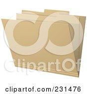 Royalty Free RF Clipart Illustration Of A Manila Filing Folder by elaineitalia