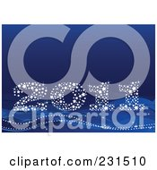 Royalty Free RF Clipart Illustration Of A Sparkly Starry 2011 On Blue