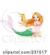 Beautiful Mermaid Resting On Sand