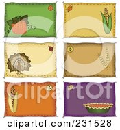 Royalty Free RF Clipart Illustration Of A Digital Collage Of Sewn Folk Art Styled Labels