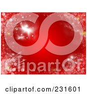 Red Christmas Background Of Gold And White Frost And Glitter