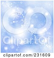 Royalty Free RF Clipart Illustration Of A Christmas Background Of Snowflakes Over Blue