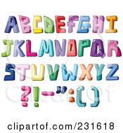 Royalty Free RF Clipart Illustration Of A Digital Collage Of Colorful Capital Letters And Punctuation