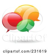 Royalty Free RF Clipart Illustration Of A Colorful Instant Messenger Windows With A Shadow by yayayoyo