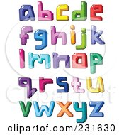 Royalty Free RF Clipart Illustration Of A Digital Collage Of Colorful Lowercase Letters