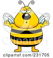 Chubby Bee Shrugging