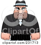 Royalty Free RF Clipart Illustration Of A Tough Male Mobster