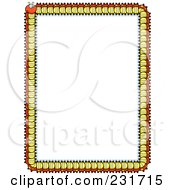 Royalty Free RF Clipart Illustration Of A Centipede Border With White Copyspace by Cory Thoman