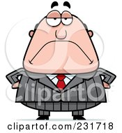 Royalty Free RF Clipart Illustration Of A Grouchy Boss With His Hands On His Hips
