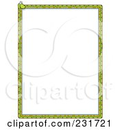 Royalty Free RF Clipart Illustration Of A Snake Border With White Copyspace