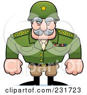 Royalty Free RF Clipart Illustration Of A Strong General by Cory Thoman