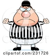 Royalty Free RF Clipart Illustration Of A Mad Referee by Cory Thoman