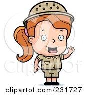 Royalty Free RF Clipart Illustration Of A Safari Girl With An Idea