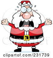 Royalty Free RF Clipart Illustration Of Santa Freaking Out by Cory Thoman